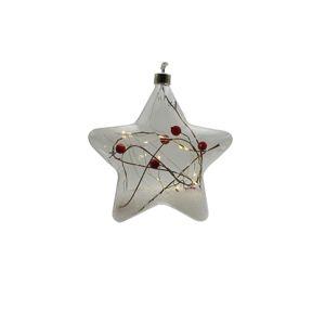Crystal závesná hviezda s cezmínou 15 LED